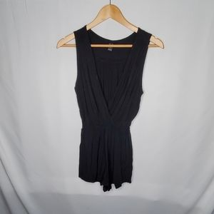 Windsor Black V Neck Romper - S